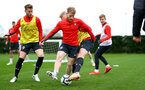 SOUTHAMPTON, ENGLAND - MARCH 03: Josh Sims during a Southampton FC training session at the Staplewood Campus on March 03, 2019 in Southampton, England. (Photo by Matt Watson/Southampton FC via Getty Images)
