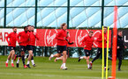 SOUTHAMPTON, ENGLAND - MARCH 05: Players running during a Southampton FC training session at the Staplewood Campus on March 05, 2019 in Southampton, England. (Photo by Matt Watson/Southampton FC via Getty Images)