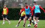 SOUTHAMPTON, ENGLAND - MARCH 05: Yan Valery during a Southampton FC training session at the Staplewood Campus on March 05, 2019 in Southampton, England. (Photo by Matt Watson/Southampton FC via Getty Images)
