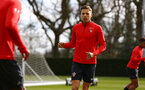 SOUTHAMPTON, ENGLAND - MARCH 07:  Jan Bednarek (middle) during a Southampton FC training session pictured at Staplewood Complex on March 07, 2019 in Southampton, England. (Photo by James Bridle - Southampton FC/Southampton FC via Getty Images)