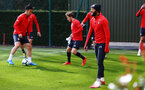 SOUTHAMPTON, ENGLAND - MARCH 07:  Nathan Redmond (right) during a Southampton FC training session pictured at Staplewood Complex on March 07, 2019 in Southampton, England. (Photo by James Bridle - Southampton FC/Southampton FC via Getty Images)