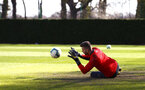 SOUTHAMPTON, ENGLAND - MARCH 07:  Angus Gunn during a Southampton FC training session pictured at Staplewood Complex on March 07, 2019 in Southampton, England. (Photo by James Bridle - Southampton FC/Southampton FC via Getty Images)