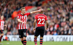 SOUTHAMPTON, ENGLAND - MARCH 09: James Ward-Prowse and Nathan Redmond during the Premier League match between Southampton FC and Tottenham Hotspur at St Mary's Stadium on March 9, 2019 in Southampton, United Kingdom. (Photo by Chris Moorhouse/Southampton FC via Getty Images)