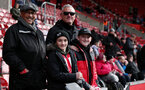 SOUTHAMPTON, ENGLAND - MARCH 09: Saints fans during the Premier League match between Southampton FC and Tottenham Hotspur at St Mary's Stadium on March 9, 2019 in Southampton, United Kingdom. (Photo by Chris Moorhouse/Southampton FC via Getty Images)