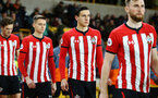 WOLVERHAMPTON, ENGLAND - MARCH 05:  Alfie Jones (middle) ahead of the PL2 U23's match between Wolverhampton Wanders and Southampton FC at Molineux Stadium in Wolverhampton, England, on March 05, 2019 (Photo by James Bridle - Southampton FC/Southampton FC via Getty Images)