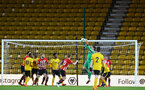 WOLVERHAMPTON, ENGLAND - MARCH 05:  Harry Lewis reaches for the ball (middle) during the PL2 U23's match between Wolverhampton Wanders and Southampton FC at Molineux Stadium in Wolverhampton, England, on March 05, 2019 (Photo by James Bridle - Southampton FC/Southampton FC via Getty Images)