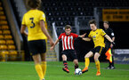 WOLVERHAMPTON, ENGLAND - MARCH 05:  Jake Vokins  (middle) during the PL2 U23's match between Wolverhampton Wanders and Southampton FC at Molineux Stadium in Wolverhampton, England, on March 05, 2019 (Photo by James Bridle - Southampton FC/Southampton FC via Getty Images)
