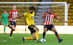 WOLVERHAMPTON, ENGLAND - MARCH 05:  Tyreke Johnson (right) during the PL2 U23's match between Wolverhampton Wanders and Southampton FC at Molineux Stadium in Wolverhampton, England, on March 05, 2019 (Photo by James Bridle - Southampton FC/Southampton FC via Getty Images)