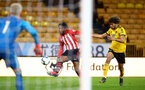 WOLVERHAMPTON, ENGLAND - MARCH 05:  Dan Nlundulu  (left) during the PL2 U23's match between Wolverhampton Wanders and Southampton FC at Molineux Stadium in Wolverhampton, England, on March 05, 2019 (Photo by James Bridle - Southampton FC/Southampton FC via Getty Images)