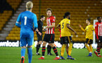 WOLVERHAMPTON, ENGLAND - MARCH 05:  Sam Gallagher (middle) after the final whistle for the PL2 U23's match between Wolverhampton Wanders and Southampton FC at Molineux Stadium in Wolverhampton, England, on March 05, 2019 (Photo by James Bridle - Southampton FC/Southampton FC via Getty Images)