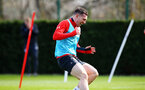 SOUTHAMPTON, ENGLAND - MARCH 13: Pierre-Emile Hojbjerg during a Southampton FC training session at Staplewood Complex on March 13, 2019 in Southampton, England. (Photo by James Bridle - Southampton FC/Southampton FC via Getty Images)