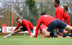 SOUTHAMPTON, ENGLAND - MARCH 13: Mario Lemina (left) during a Southampton FC training session at Staplewood Complex on March 18, 2019 in Southampton, England. (Photo by James Bridle - Southampton FC/Southampton FC via Getty Images)