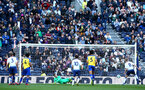 LONDON, ENGLAND - MARCH 24:  Southampton concede, as Jack bycroft (centre-left) dives left as the ball goes right during the U18s Premier League match between Tottenham Hot Spur and Southampton FC at Tottenham Hotspur Stadium on March 24, 2019 in London, England. (Photo by James Bridle - Southampton FC/Southampton FC via Getty Images)