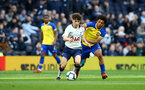 LONDON, ENGLAND - MARCH 24:  Rio Glean (right) during the U18s Premier League match between Tottenham Hot Spur and Southampton FC at Tottenham Hotspur Stadium on March 24, 2019 in London, England. (Photo by James Bridle - Southampton FC/Southampton FC via Getty Images)
