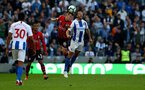 BRIGHTON, ENGLAND - MARCH 30: James Ward-Prowse(L) of Southampton and Glenn Murray of Brighton & Hove Albion during the Premier League match between Brighton & Hove Albion and Southampton FC at American Express Community Stadium on March 30, 2019 in Brighton, United Kingdom. (Photo by Matt Watson/Southampton FC via Getty Images)