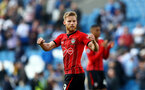 BRIGHTON, ENGLAND - MARCH 30: Josh Sims of Southampton during the Premier League match between Brighton & Hove Albion and Southampton FC at American Express Community Stadium on March 30, 2019 in Brighton, United Kingdom. (Photo by Matt Watson/Southampton FC via Getty Images)