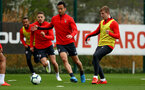 SOUTHAMPTON, ENGLAND - APRIL 02: Maya Yoshida(centre)during a Southampton FC training session at the Staplewood Campus on April 02, 2019 in Southampton, England. (Photo by Matt Watson/Southampton FC via Getty Images)