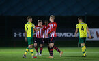 SOUTHAMPTON, ENGLAND - APRIL 05:  Final whistle is blown as Southampton FC  win 4-1 during the U23's PL2 match between Southampton FC and Norwich City pictured at Staplewood Complex on April 05, 2019 in Southampton, England. (Photo by James Bridle - Southampton FC/Southampton FC via Getty Images)