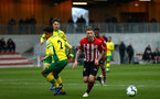 SOUTHAMPTON, ENGLAND - APRIL 05:  Callum Slattery (right) during the U23's PL2 match between Southampton FC and Norwich City pictured at Staplewood Complex on April 05, 2019 in Southampton, England. (Photo by James Bridle - Southampton FC/Southampton FC via Getty Images)