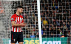 SOUTHAMPTON, ENGLAND - APRIL 05: Shane Long of Southampton during the Premier League match between Southampton FC and Liverpool FC at St Mary's Stadium on April 6, 2019 in Southampton, United Kingdom. (Photo by Matt Watson/Southampton FC via Getty Images)