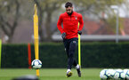SOUTHAMPTON, ENGLAND - APRIL 09: Charlie Austin during a training session at the Staplewood Campus on April 09, 2019 in Southampton, England. (Photo by Matt Watson/Southampton FC via Getty Images)