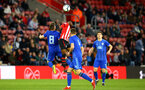 SOUTHAMPTON, ENGLAND - APRIL 10: Nathan Tella (middle) during the International PL Cup match between Southampton FC and Dinamo Zagreb, pictured at St. Mary's Stadium on April 10, 2019 in Southampton, England. (Photo by James Bridle - Southampton FC/Southampton FC via Getty Images) (Photo by James Bridle - Southampton FC/Southampton FC via Getty Images)
