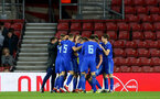SOUTHAMPTON, ENGLAND - APRIL 10: Zagreb celebrate after scoring during the International PL Cup match between Southampton FC and Dinamo Zagreb, pictured at St. Mary's Stadium on April 10, 2019 in Southampton, England. (Photo by James Bridle - Southampton FC/Southampton FC via Getty Images) (Photo by James Bridle - Southampton FC/Southampton FC via Getty Images)