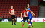 SOUTHAMPTON, ENGLAND - APRIL 10: Jake Vokins  (right) during the International PL Cup match between Southampton FC and Dinamo Zagreb, pictured at St. Mary's Stadium on April 10, 2019 in Southampton, England. (Photo by James Bridle - Southampton FC/Southampton FC via Getty Images) (Photo by James Bridle - Southampton FC/Southampton FC via Getty Images)