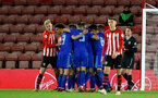 SOUTHAMPTON, ENGLAND - APRIL 10: Dinamo Zagreb score and celebrate during the International PL Cup match between Southampton FC and Dinamo Zagreb, pictured at St. Mary's Stadium on April 10, 2019 in Southampton, England. (Photo by James Bridle - Southampton FC/Southampton FC via Getty Images) (Photo by James Bridle - Southampton FC/Southampton FC via Getty Images)