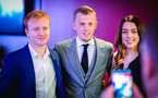 SOUTHAMPTON, ENGLAND - APRIL 12: James Ward-Prowse poses for photos with guests (middle) during the Southampton FC Foundation Charity Dinner pictured at St Marys Stadium on April 12, 2019 in Southampton, England. (Photo by James Bridle - Southampton FC/Southampton FC via Getty Images)