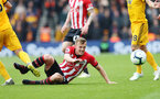 SOUTHAMPTON, ENGLAND - APRIL 13: James Ward-Prowse of Southampton during the Premier League match between Southampton FC and Wolverhampton Wanderers at St Mary's Stadium on April 13, 2019 in Southampton, United Kingdom. (Photo by Matt Watson/Southampton FC via Getty Images)
