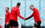 SOUTHAMPTON, ENGLAND - APRIL 16: Pierre-Emile Hojbjerg(L) and Oriol Romeu during a Southampton FC training session at the Staplewood Campus on April 16, 2019 in Southampton, England. (Photo by Matt Watson/Southampton FC via Getty Images)