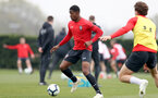 SOUTHAMPTON, ENGLAND - APRIL 16: Kayne Ramsay during a Southampton FC training session at the Staplewood Campus on April 16, 2019 in Southampton, England. (Photo by Matt Watson/Southampton FC via Getty Images)
