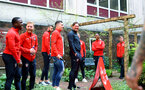 SOUTHAMPTON, ENGLAND - APRIL 17: behind the scenes view of Southampton FC players after a visit to Southampton General Hospital pictured with patients and staff on April 17, 2019 in Southampton, England. (Photo by James Bridle - Southampton FC/Southampton FC via Getty Images)