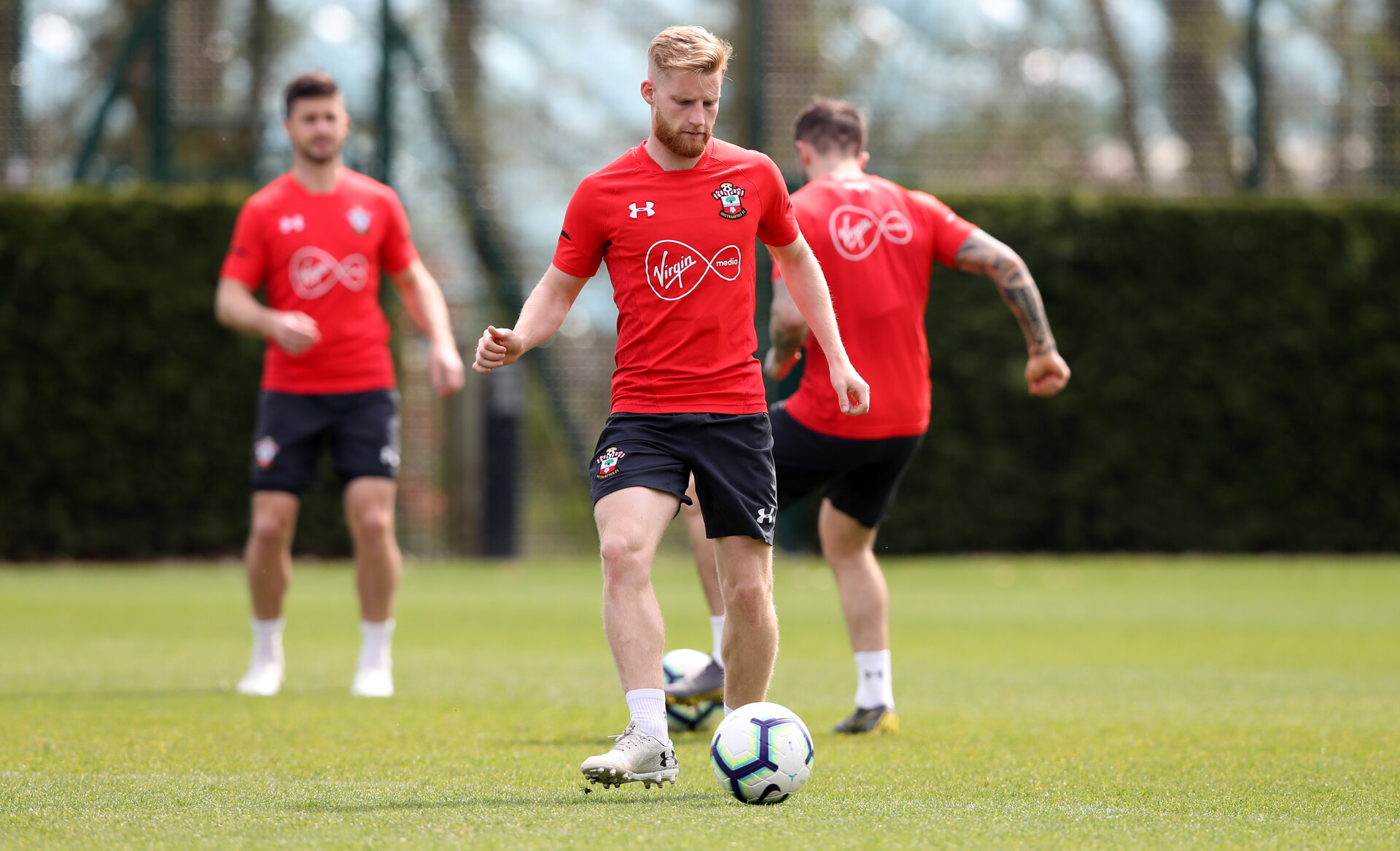 SOUTHAMPTON, ENGLAND - APRIL 18: Josh Sims during a Southampton FC training session at the Staplewood Campus on April 18, 2019 in Southampton, England. (Photo by Matt Watson/Southampton FC via Getty Images)