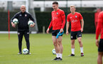 SOUTHAMPTON, ENGLAND - APRIL 18: Pierre-Emile Hojbjerg during a Southampton FC training session at the Staplewood Campus on April 18, 2019 in Southampton, England. (Photo by Matt Watson/Southampton FC via Getty Images)