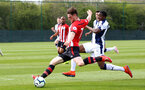 WEST BROMWICH, ENGLAND - APRIL 18: Will Ferry shoots for Southampton, grazing the goal line during the Under 23s PL2 match between West Bromwich and Southampton FC pictured on April 18, 2019 in West Bromwich, England. (Photo by James Bridle - Southampton FC/Southampton FC via Getty Images)