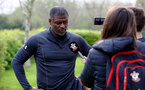 WEST BROMWICH, ENGLAND - APRIL 18: Radhi Jaidi during a post match interview for the Under 23s PL2 match between West Bromwich and Southampton FC pictured on April 18, 2019 in West Bromwich, England. (Photo by James Bridle - Southampton FC/Southampton FC via Getty Images)