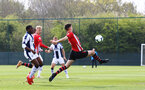 WEST BROMWICH, ENGLAND - APRIL 18: Tom O'Connor of Southampton (middle) takes a shot on goal1 during the Under 23s PL2 match between West Bromwich and Southampton FC pictured on April 18, 2019 in West Bromwich, England. (Photo by James Bridle - Southampton FC/Southampton FC via Getty Images)