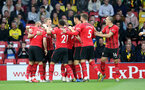 WATFORD, ENGLAND - APRIL 23: Shane Long(7) of Southampton celebrates with team mates during the Premier League match between Watford FC and Southampton FC at Vicarage Road on April 23, 2019 in Watford, United Kingdom. (Photo by Matt Watson/Southampton FC via Getty Images)