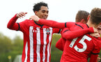 NORWICH, ENGLAND - APRIL 27: Christian Norton celebrated with the team (left) during a U18 Premier League match between Norwich City FC and Southampton FC pictured at Colney Training Ground on April 27, 2019 in Norwich, England. (Photo by James Bridle - Southampton FC/Southampton FC via Getty Images)