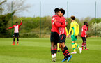 NORWICH, ENGLAND - APRIL 27: Rowland Idowu  celebrates after scoring for Southampton FC during a U18 Premier League match between Norwich City FC and Southampton FC pictured at Colney Training Ground on April 27, 2019 in Norwich, England. (Photo by James Bridle - Southampton FC/Southampton FC via Getty Images)
