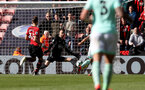 SOUTHAMPTON, ENGLAND - APRIL 27: Angus Gunn of Southampton saves during the Premier League match between Southampton FC and AFC Bournemouth at St Mary's Stadium on April 27, 2019 in Southampton, United Kingdom. (Photo by Matt Watson/Southampton FC via Getty Images)