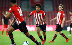 SOUTHAMPTON, ENGLAND - APRIL 29: Caleb Watts (middle)  during the Premier League 2 match between Southampton FC and Sunderland pictured at St Mary's Stadium on April 29, 2019 in Southampton, England. (Photo by James Bridle - Southampton FC/Southampton FC via Getty Images)
