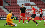 SOUTHAMPTON, ENGLAND - APRIL 29:Will Smallbone (right) during the Premier League 2 match between Southampton FC and Sunderland pictured at St Mary's Stadium on April 29, 2019 in Southampton, England. (Photo by James Bridle - Southampton FC/Southampton FC via Getty Images)