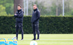 SOUTHAMPTON, ENGLAND - MAY 01: Danny Röhl and Ralph Hasenhuttl during a Southampton FC training session at the Staplewood Campus on May 01, 2019 in Southampton, England. (Photo by Matt Watson/Southampton FC via Getty Images)