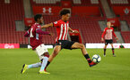 SOUTHAMPTON, ENGLAND - MAY 03: Oludare Olufunwa (middle)  during the U23s PL2 Play off Semi-Final between Southampton FC and Aston Villa FC pictured at St Mary's Stadium on May 03, 2019 in Southampton, England. (Photo by James Bridle - Southampton FC/Southampton FC via Getty Images)