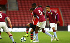SOUTHAMPTON, ENGLAND - MAY 03: Tyreke Johnson (middle)  during the U23s PL2 Play off Semi-Final between Southampton FC and Aston Villa FC pictured at St Mary's Stadium on May 03, 2019 in Southampton, England. (Photo by James Bridle - Southampton FC/Southampton FC via Getty Images)