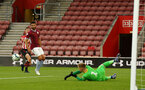 SOUTHAMPTON, ENGLAND - MAY 03: A near miss for Tom O'Connor (left)