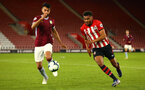 SOUTHAMPTON, ENGLAND - MAY 03: Marcus Barnes (right) during the U23s PL2 Play off Semi-Final between Southampton FC and Aston Villa FC pictured at St Mary's Stadium on May 03, 2019 in Southampton, England. (Photo by James Bridle - Southampton FC/Southampton FC via Getty Images)